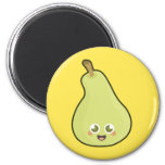 Kawaii Pear 2 Inch Round Magnet