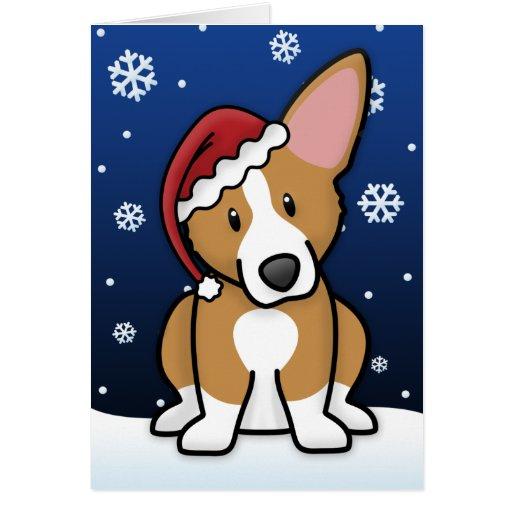 Kawaii Pembroke Welsh Corgi Christmas Card