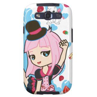 Kawaii Penélope el androide gótico de Lolita Chibi Galaxy SIII Fundas