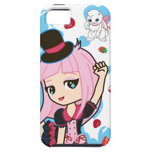Kawaii Penélope el iPhone gótico 5 de Lolita Chibi iPhone 5 Fundas