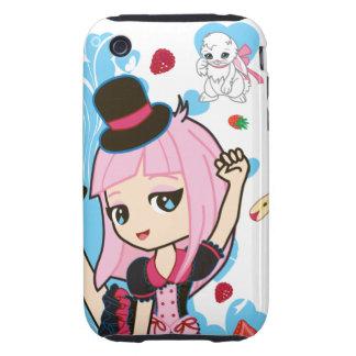 Kawaii Penelope the Gothic Lolita Chibi iPhone 3 Tough iPhone 3 Case