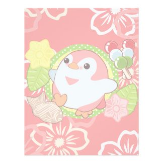 Kawaii Penguin and Wagashi Letterhead
