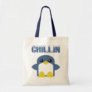 kawaii penguin chillin sweety tweety budget tote bag