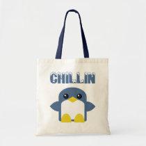 kawaii penguin chillin sweety tweety tote bag