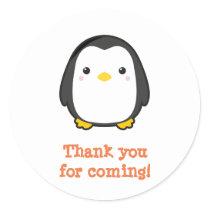 Kawaii Penguin Classic Round Sticker