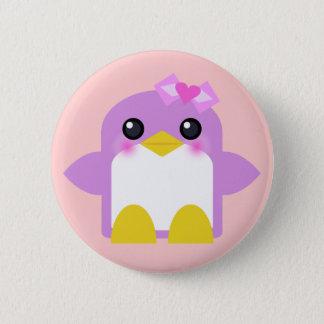 kawaii penguin girl pink sweety tweety button
