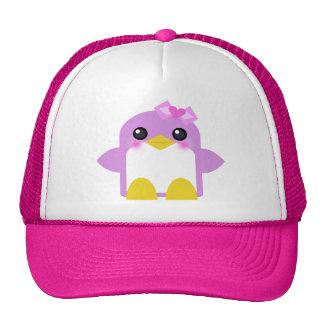 kawaii penguin girl pink sweety tweety trucker hat
