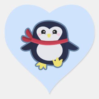 Kawaii Penguin Heart Sticker