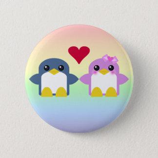 kawaii penguin love sweety tweety pinback button