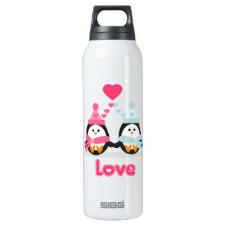 Kawaii Penguin Love Thermos Water Bottle