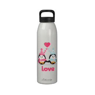 Kawaii Penguin Love Water Bottles