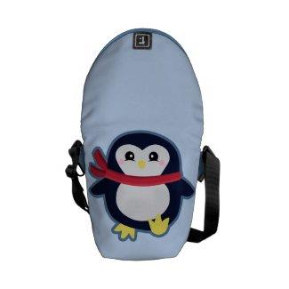Kawaii penguin messenger bags
