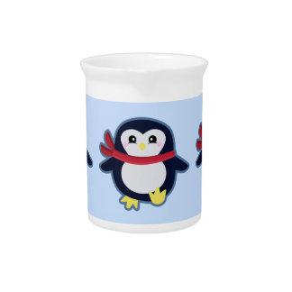 Kawaii penguin beverage pitcher