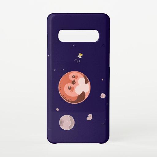 Kawaii Penguin Planet Pluto Samsung Galaxy S10 Case