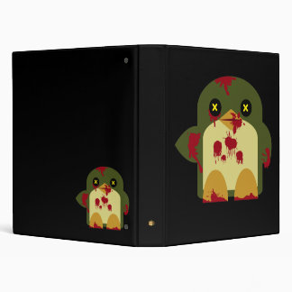 Kawaii Penguin Zombie Gruesome Horror Binder