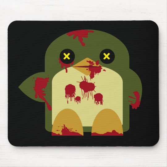 Kawaii Penguin Zombie Gruesome Horror Mouse Pad