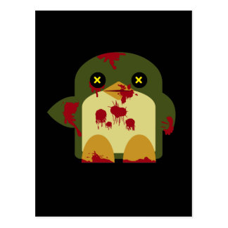 Kawaii Penguin Zombie Gruesome Horror Post Card