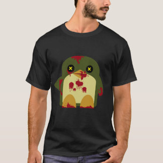 Kawaii Penguin Zombie Gruesome Horror T-Shirt