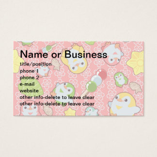 Kawaii Penguins and Wagashi Business Card