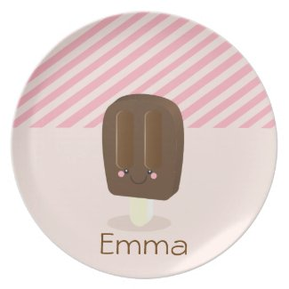 Kawaii Personalized Popsicle - Plate plate