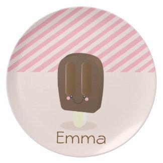 Kawaii Personalized Popsicle - Plate