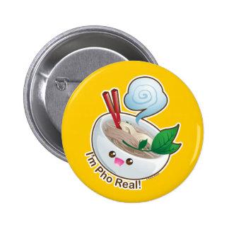 Kawaii Pho Real Pinback Buttons