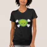 kawaii pickle slice and crossbones design tshirt
