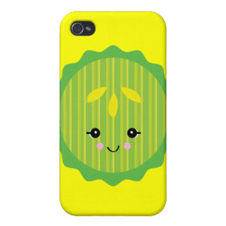 kawaii pickle slice cover for iPhone 4