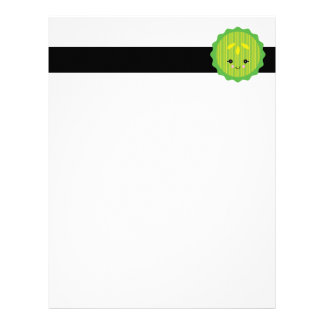 kawaii pickle slice letterhead