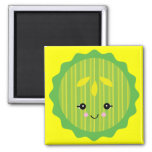 kawaii pickle slice magnet