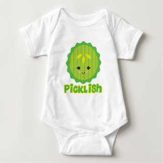 kawaii picklish pickle slice baby bodysuit
