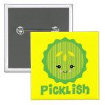 kawaii picklish pickle slice pin