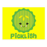 kawaii picklish pickle slice postcard