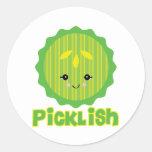 kawaii picklish pickle slice stickers