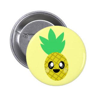 kawaii pineapple fruit face so happy cute pin