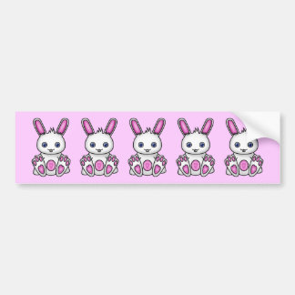 Kawaii Pink Bunny Bumper Sticker
