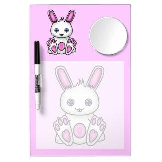 Kawaii Pink Bunny Dry-Erase Board