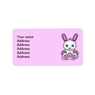 Kawaii Pink Bunny Label
