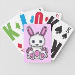 Kawaii Pink Bunny Pattern Bicycle Poker Cards
