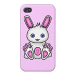 Kawaii Pink Bunny Pattern iPhone 4 Cover