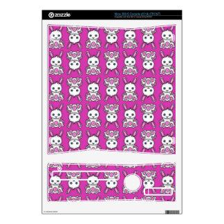 Kawaii Pink Bunny Pattern Xbox 360 S Skin