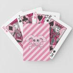 Kawaii Pink Bunny Skull Bicycle Playing Cards