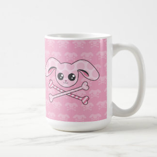 Kawaii Pink Bunny Skull Coffee Mug