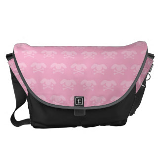Kawaii Pink Bunny Skull Courier Bags