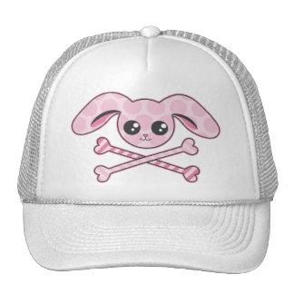Kawaii Pink Bunny Skull Trucker Hat
