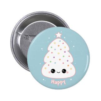 Kawaii Pink Christmas Tree Pins