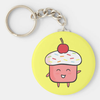 Kawaii Pink Cupcake For Girls Keychain