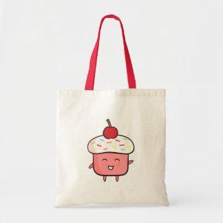 Kawaii Pink Cupcake Girls Tote Bag