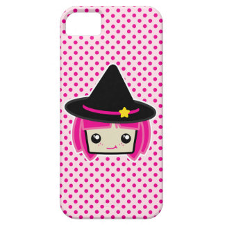 Kawaii Pink Haired Witch iPhone Case