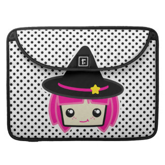 Kawaii Pink Haired Witch Macbook Pro Case